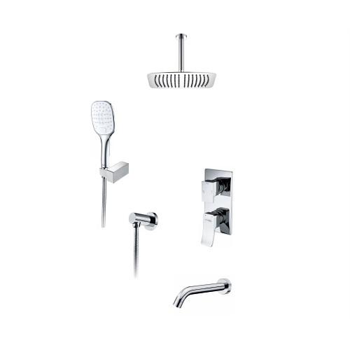 A171668 Встраиваемый комплект для ванны с верхней душевой насадкой, лейкой и изливом
