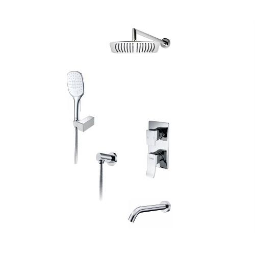 A171619 Встраиваемый комплект для ванны с верхней душевой насадкой, лейкой и изливом