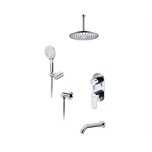 A175868 Встраиваемый комплект для ванны с верхней душевой насадкой, лейкой и изливом