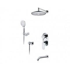 A175819 Встраиваемый комплект для ванны с верхней душевой насадкой, лейкой и изливом