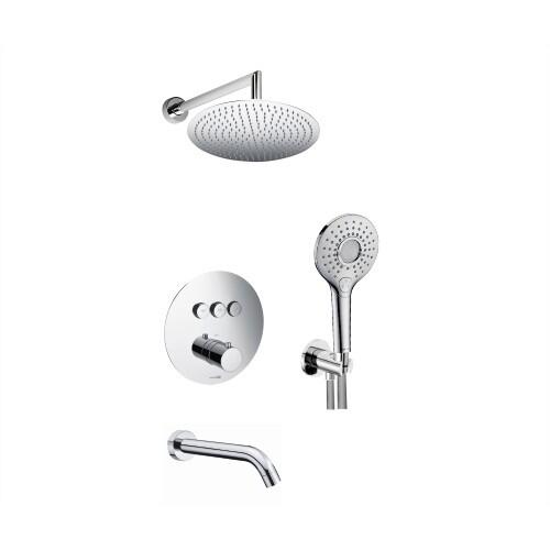 A175817 Thermo Встраиваемый комплект для ванны с верхней душевой насадкой, лейкой и изливом