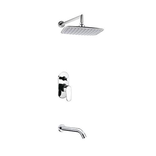 A13031 Встраиваемый комплект для ванны с изливом и верхней душевой насадкой