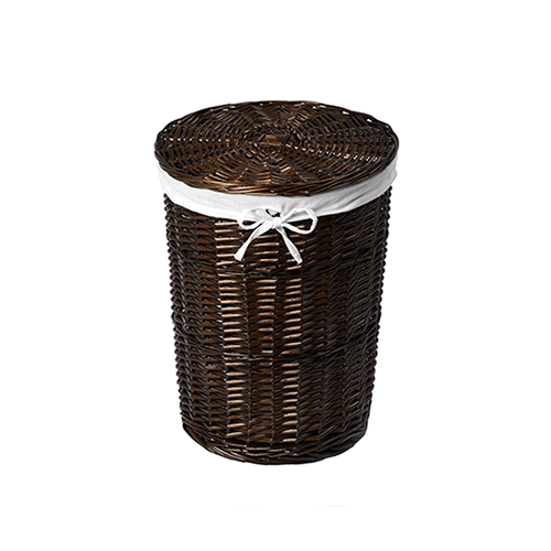 Еlbe WB-740-L Плетеная корзина для белья с крышкой