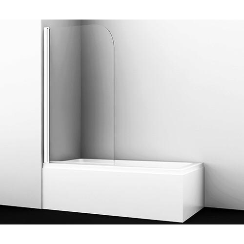 Leine 35P01-80WHITE Стеклянная шторка на ванну