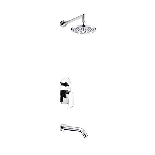 A13029 Встраиваемый комплект для ванны с изливом и верхней душевой насадкой