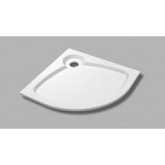 Встраиваемый литой поддон из искусственного мрамора радиальный TRAY-S-R-80-550-56-W 80х80х5.6