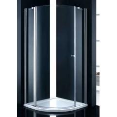 Душевой уголок Cezares прозрачное стекло 90x90x195см ELENA-W-R-11-90-C-Cr-L
