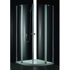 Душевой уголок Cezares прозрачное стекло 90x90x195см ELENA-W-R-22-90-C-Cr