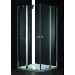 Душевой уголок Cezares текстурное стекло 100x90x195см ELENA-W-AH-2-100/90-P-Cr-L