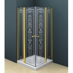 Душевой уголок 100x100 прозрачное с матовым принтом стекло CEZARES ROYAL PALACE-A-22-100-CP-Сr