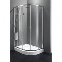 Душевой уголок Cezares Anima 120x100 см текстурное стекло ANIMA-RH-2-120/100-P-Cr-L
