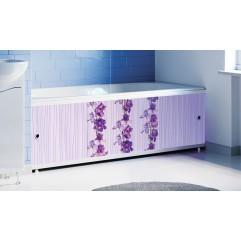 Экран под ванну раздвижной 170 см Alavann Оптима Decor сиреневый  цветок