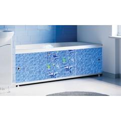 Экран под ванну раздвижной 170 см Alavann Оптима Decor дельфины