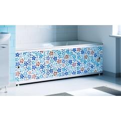 Экран под ванну раздвижной 170 см Alavann Оптима Decor синий цветок
