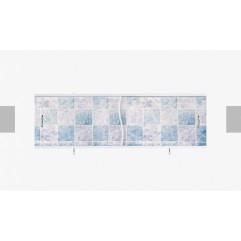 Экран под ванну раздвижной 170 см Alavann Премьер бело-синий