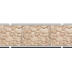 Экран под ванну раздвижной 150 см Метакам Премиум А коричневый камень