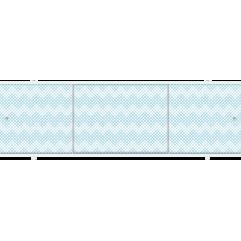 Экран под ванну раздвижной 170 см Метакам Премиум А синяя мозаика