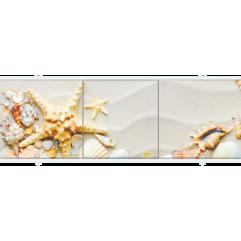 Экран под ванну раздвижной 170 см Метакам Премиум АРТ морская звезда