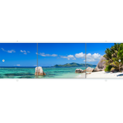 Экран под ванну раздвижной 150 см Метакам Премиум АРТ остров
