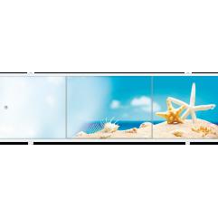 Экран под ванну раздвижной 170 см Метакам Премиум АРТ ракушки