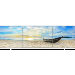 Экран под ванну раздвижной 170 см Метакам Премиум АРТ закат