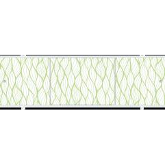 Экран под ванну раздвижной 170 см Метакам Премиум А БН зеленый узор
