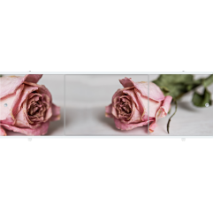 Экран под ванну раздвижной 170 см Метакам Премиум АРТ ФШ бледно-розовая роза