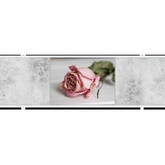 Экран под ванну раздвижной 150 см Метакам Премиум ФШ розовая роза