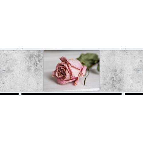 Экран под ванну раздвижной 150 см Метакам Премиум АРТ ФШ розовая роза