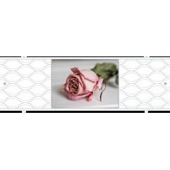 Экран под ванну раздвижной 170 см Метакам Премиум АРТ ФШ розовый цветок