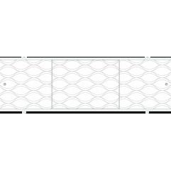 Экран под ванну раздвижной 170 см Метакам Премиум А ФШ серый узор