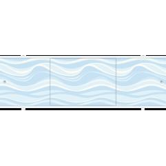 Экран под ванну раздвижной 150 см Метакам Премиум Прохладный бриз голубая волна
