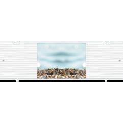 Экран под ванну раздвижной 170 см Метакам Премиум ПБ морские камушки