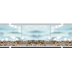 Экран под ванну раздвижной 170 см Метакам Премиум ПБ морской берег