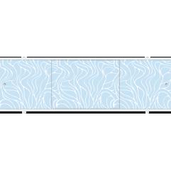 Экран под ванну раздвижной 150 см Метакам Премиум ПБ голубой узор