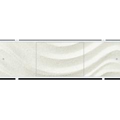 Экран под ванну раздвижной 170 см Метакам Премиум ПБ песочный изгиб
