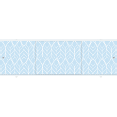 Экран под ванну раздвижной 150 см Метакам Премиум ПБ синий узор