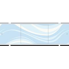 Экран под ванну раздвижной 170 см Метакам Премиум ПБ синяя волна