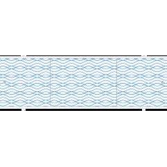 Экран под ванну раздвижной 150 см Метакам Премиум ПБ синяя волна