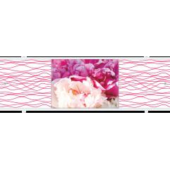 Экран под ванну раздвижной 170 см Метакам Премиум АРТ ТИ красно-белые пионы