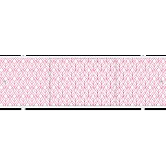 Экран под ванну раздвижной 170 см Метакам Премиум А ТИ красный листик
