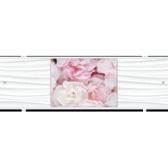 Экран под ванну раздвижной 170 см Метакам Премиум АРТ ТИ розовые пионы