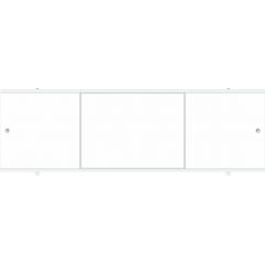 Экран под ванну раздвижной 150 см Метакам Премиум А белый