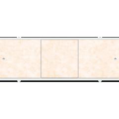 Экран под ванну раздвижной 170 см Метакам Премиум А бежевые облака