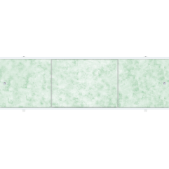 Экран под ванну раздвижной 150 см Метакам Премиум А зеленые облака