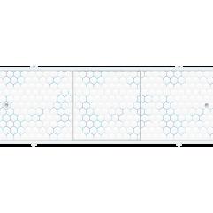 Экран под ванну раздвижной 170 см Метакам Премиум А голубые соты