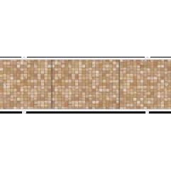 Экран под ванну раздвижной 150 см Метакам Премиум А коричневые камни