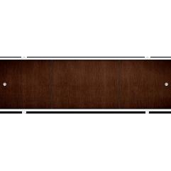 Экран под ванну раздвижной 150 см Метакам Премиум А коричневый орех