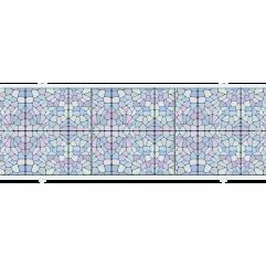 Экран под ванну раздвижной 170 см Метакам Премиум А мозаика