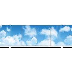 Экран под ванну раздвижной 150 см Метакам Премиум А облака